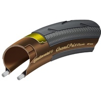 Continental Grand Prix Classic Folding Clincher Tyre - 700 x 25 - Black/Brown
