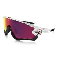 Oakley Jawbreaker Prizm -  Polished White/Prizm Road