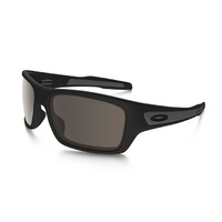 Oakley Turbine Sunglasses - Matte Black/Warm Grey Lens