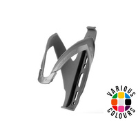 Elite Custom Race Bottle Cage - Mat Black - White
