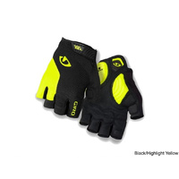 Giro Strade Dure Supergel Gloves - Large - Black/Highlight Yellow