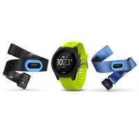 Garmin Forerunner 935 GPS Running/Tri Watch Tri Bundle - Black with Yellow Straps