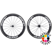 Zipp 404 Firecrest Carbon Clincher Wheels - White - Rear - Campagnolo