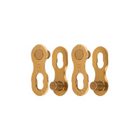 KMC Missing Link 11 Speed Connector - Ti-N Gold - Twin Pack