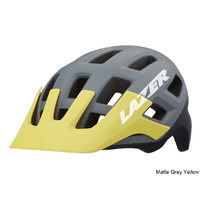 Lazer Coyote Helmet - Matte Grey Yellow Large