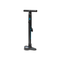 Blackburn Piston 2 Floorpump - Matte Black-Cyan
