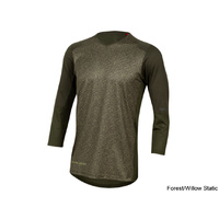 Pearl Izumi Launch 3/4 Sleeve Jersey - Forest/Willow Static Medium