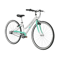 ByK E-620 Girls Bike - White/Celeste Green 3 Speed Internal Gear - White/Celeste