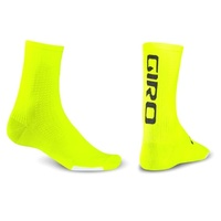 Giro HRc Team Socks - Highlighter Yellow - Medium