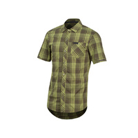 Pearl Izumi Short Sleeve Button-Up Shirt - Forest Plaid Large