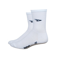 "DeFeet Aireator 5"" D-Logo Double Layer Cuff Socks - White"