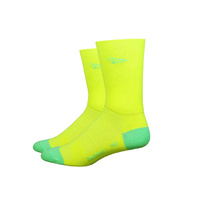 Defeet Aireator Hi Viz Socks - Yellow