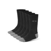 Oakley Performance Basic Crew Socks 5 Pack - Black